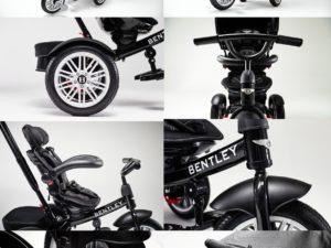 prémium-kategóriás-limitált-bentley-trike-6-az-1-ben-babakocsi-átalakítható-tricikli-fekete-arany