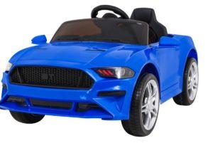 Elektromos Kisautó Mustang Sport GT-re hasonlító-Nyitható Csomagtartó-Kék