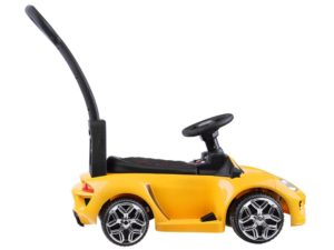 Átalakítható Elektromos Kisautó a legkisebbeknek-Lamborghinire hasonlító-Világító Lámpák-6V-Sárga