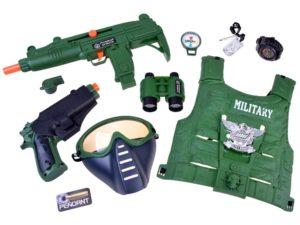 katonai szett jelmez-kiegészítőkkel