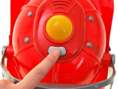 tűzoltó felszerelés fény és hanghatásokkal-működő vizipisztollyal