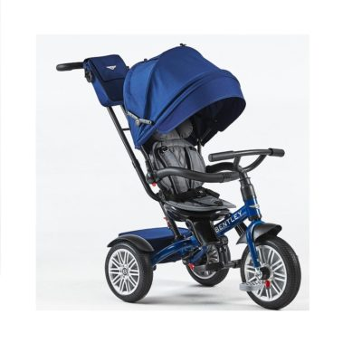 prémium kategóriás bentley trike 6 az 1-ben-babakocsi-Átalakítható tricikli-flitter kék