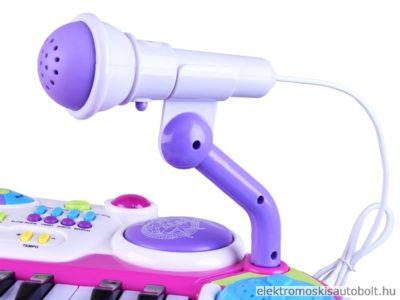 gyermek szintetizator 2 oktav szekkel mikrofonnal felvetel funkcioval rozsaszin 16