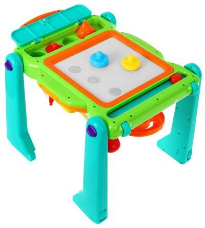 hola interaktív négyféleképpen Átalakítható multifunkciós járássegítő-mágneses rajzasztal-játszóasztal-fény és hangeffektusokkal
