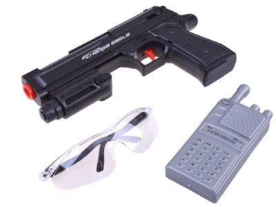 katonai mellény-szett-adóvevővel-fegyverrel-36 habpatronnal-szemüveggel