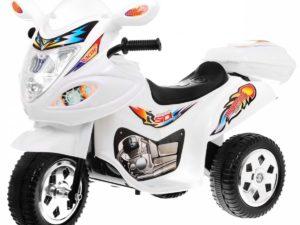 Sport Gyermek Elektromos Kismotor 6V-Tárolódobozzal-Fehér