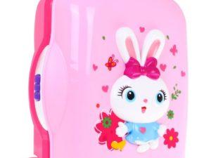 hola kozmetikai bőrönd kislányoknak-kihúzható fogantyúval-fény és hanghatásokkal-felszereléssel