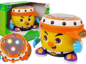 hola interaktív táncoló dob-hang és fényhatásokkal-hangerőszabályozóval-2 játékmód